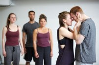 Pink Mist in rehearsals. Photo by Mark Douet.
