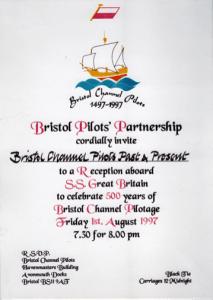 Bristol Pilots 500th Anniversary Celebration Invite