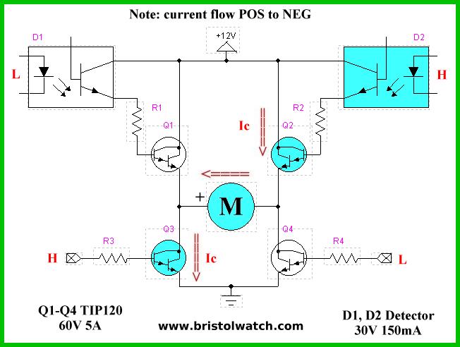 NPN Only Transistor H-Bridge Circuits
