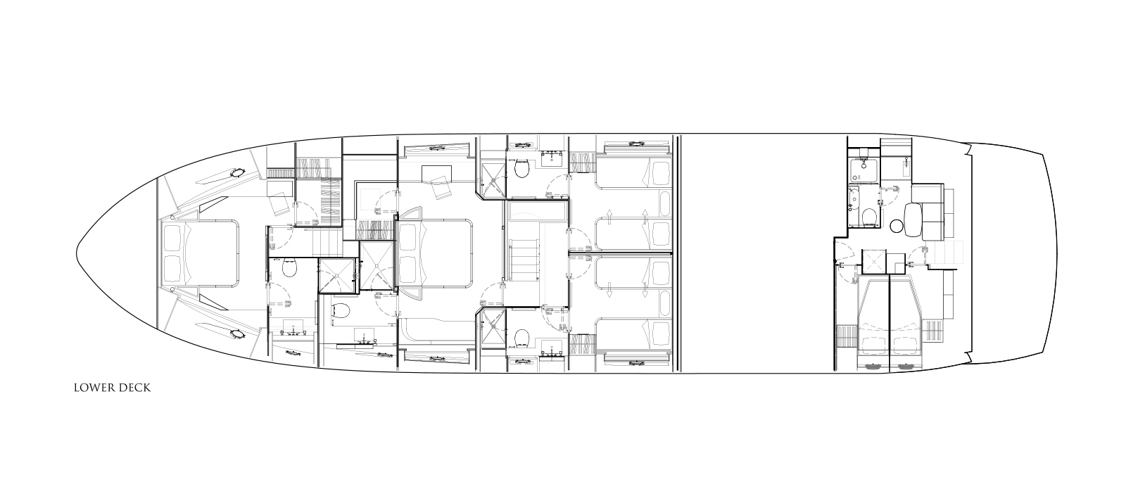 Sunseeker 86 Yacht - Lower Deck - Layout