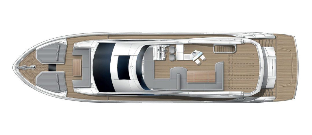 Sunseeker 76 Yacht - Flybridge Layout