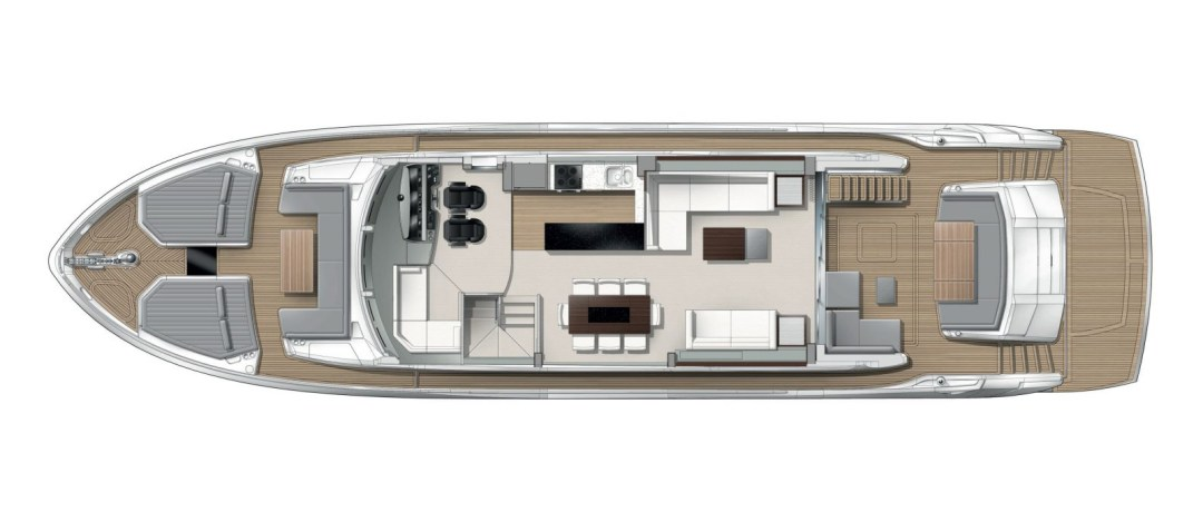 Sunseeker 76 Yacht - Main Deck Layout