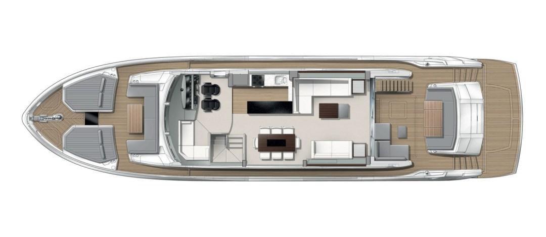 Sunseeker 76 Yacht - Main Deck Layout