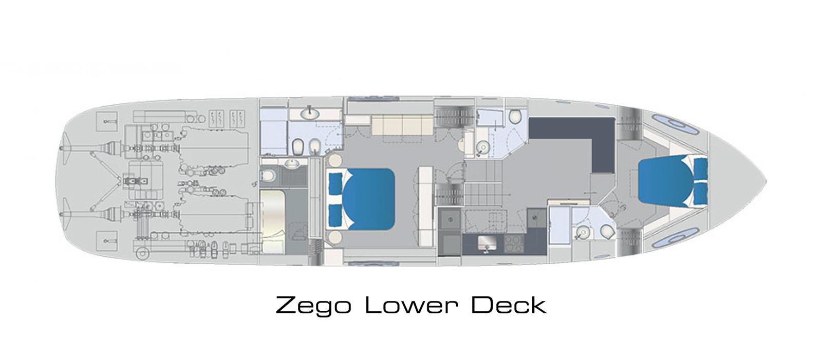 Pershing 70 Lower Deck