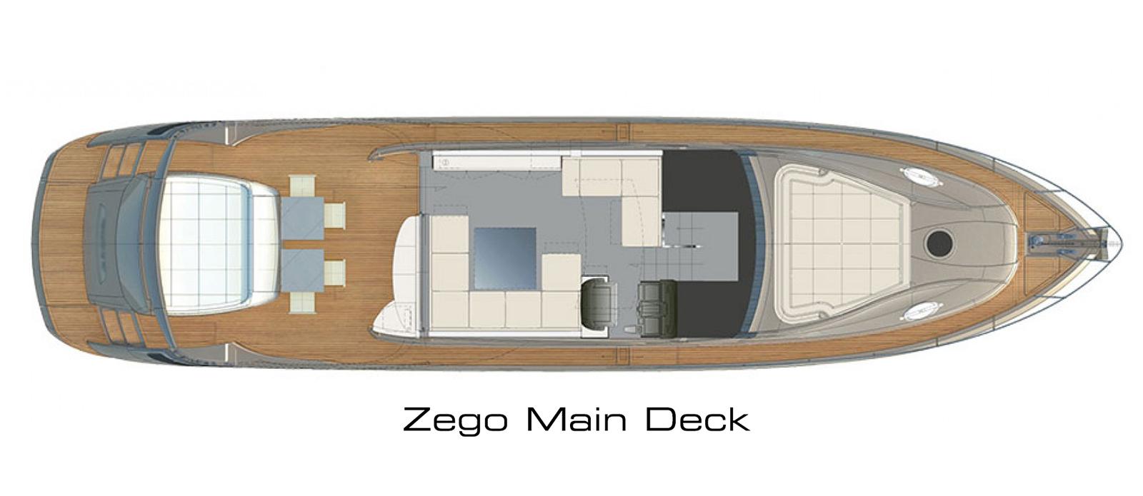 Pershing 70 Main Deck