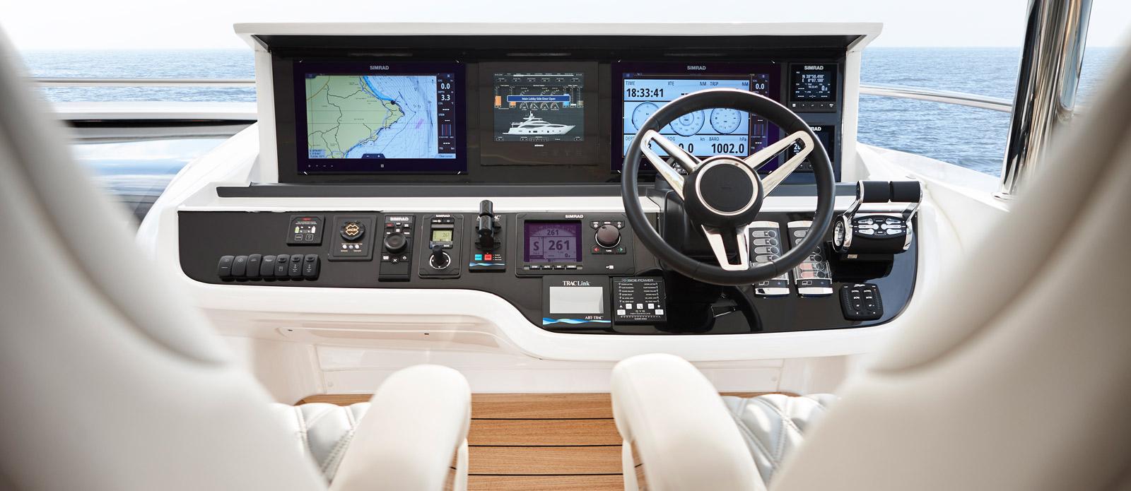Princess 30 Metre Yacht Bandazul - Flybridge Helm Console