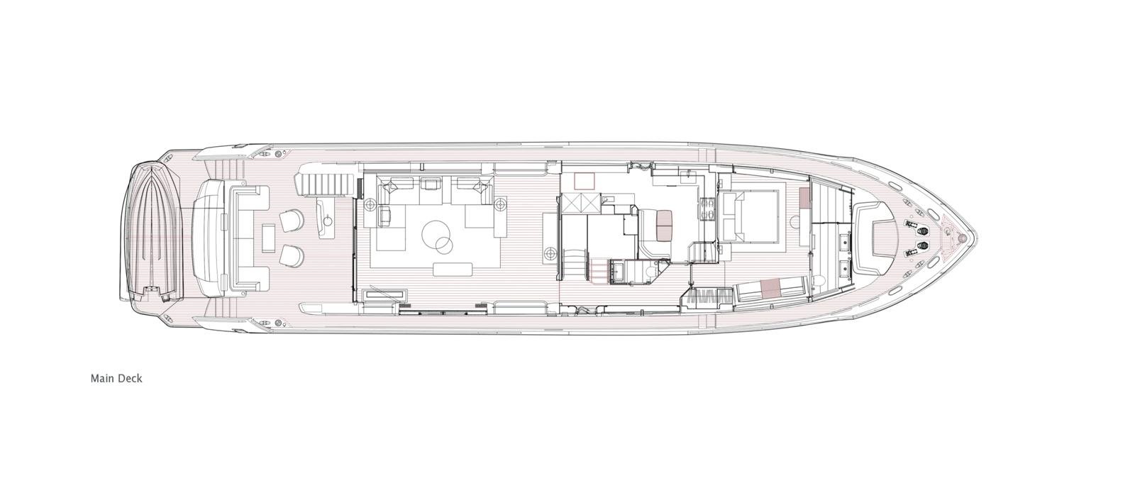 Princess 30 Metre Yacht Bandazul - Main Deck GA