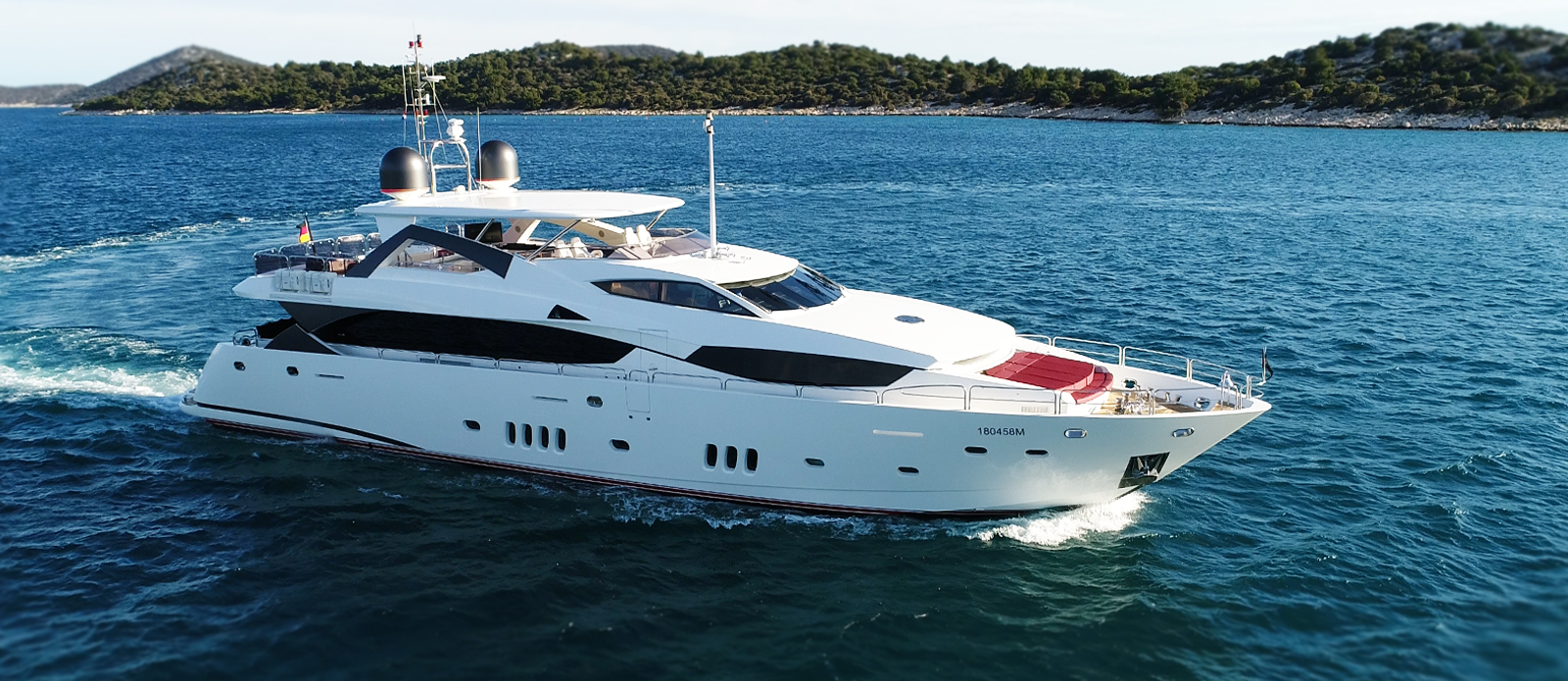 Sunseeker 34M White Pearl at Anchor in Croatia