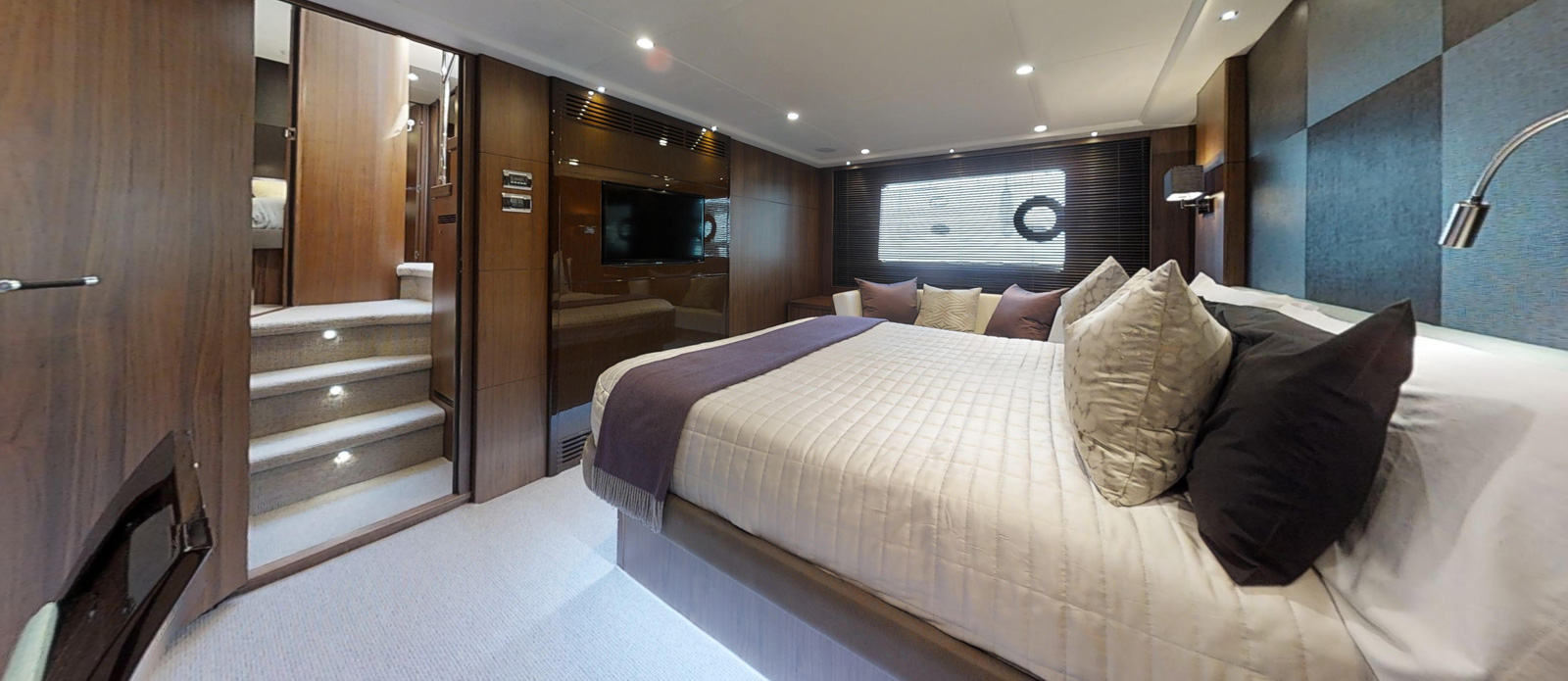 Princess 72 Blonde Moment Master Cabin 2 - For Sale with Bristow-Holmes
