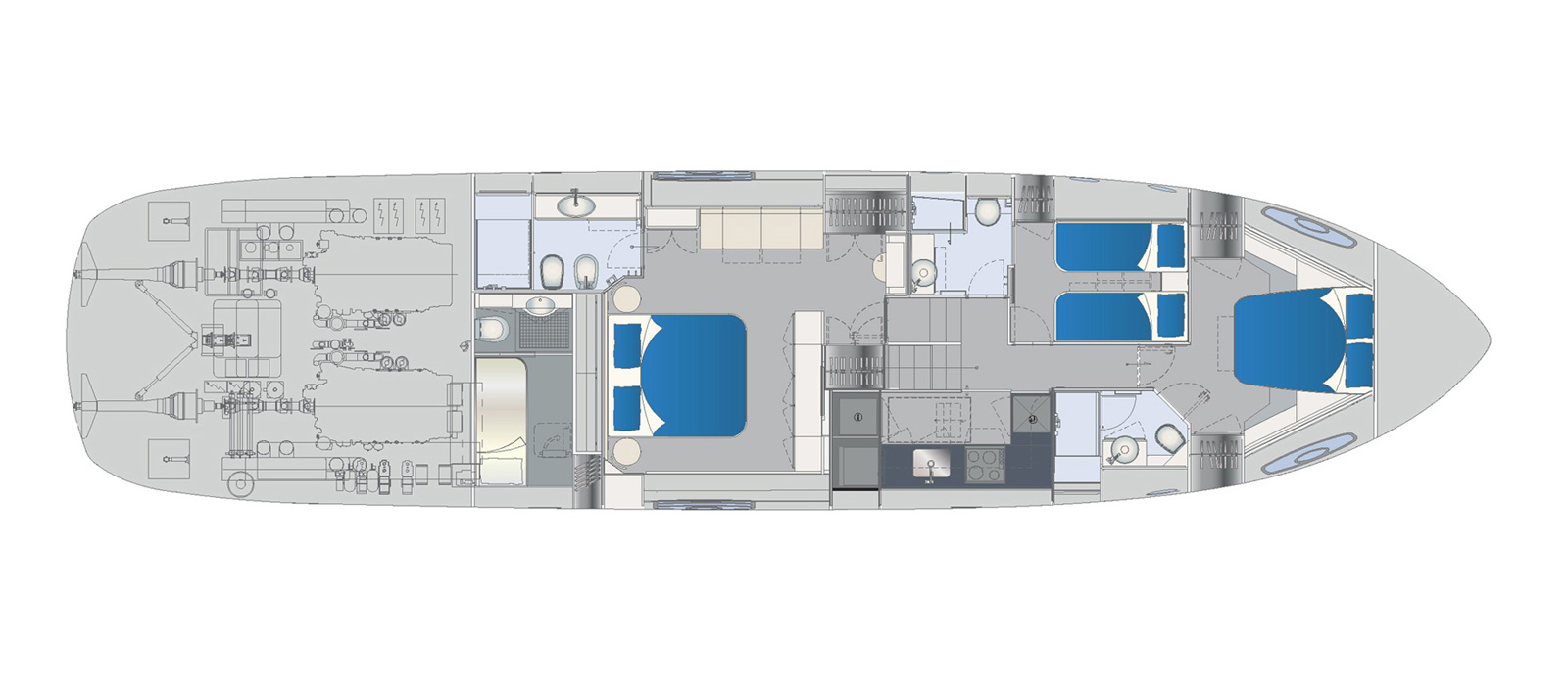 Pershing 70 - Ritmo De Vida - Lower Deck