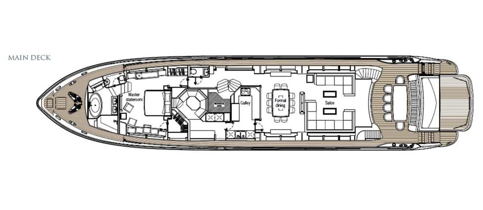 Frivolous - Main Deck Layout