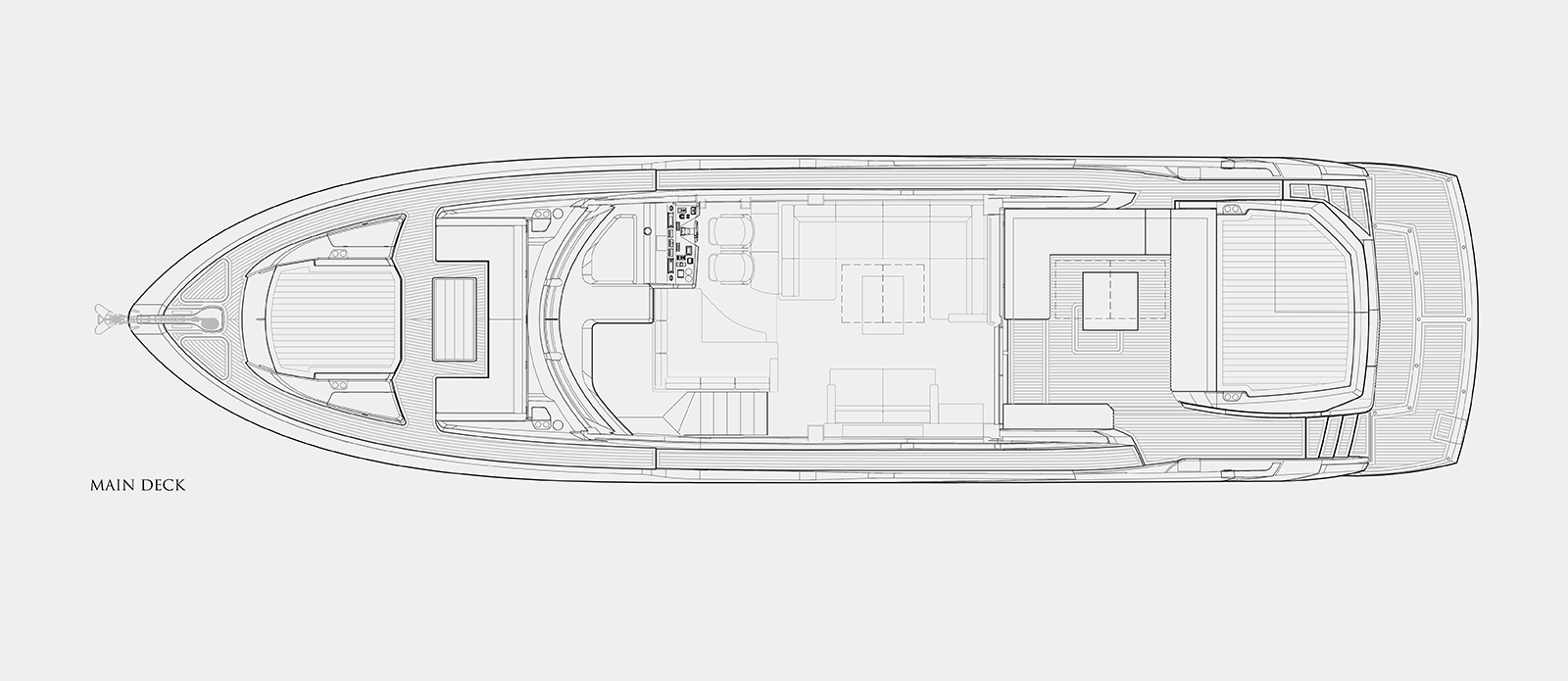 Sunseeker 74 Predator - Main Deck