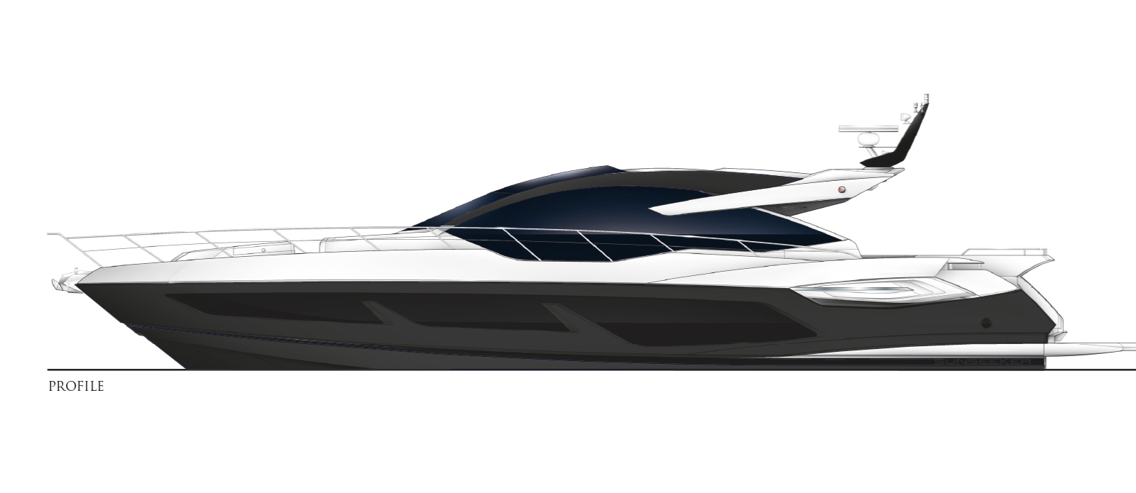 Sunseeker 74 Predator - Side Profile