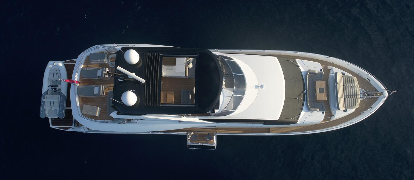 Sunseeker 86 Yacht MiBowt Overhead Shot