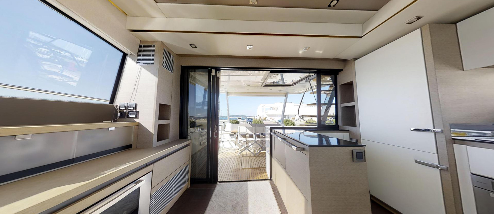 Prestige-630---Boss----Aft-Deck-and-Galley-View