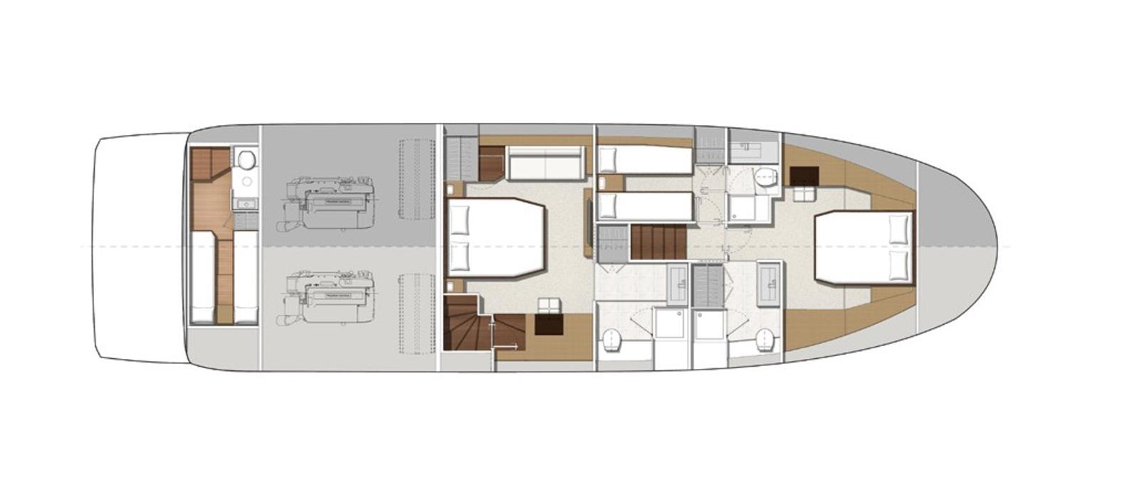 Prestige 630 - Boss - Layout - Lower-Deck