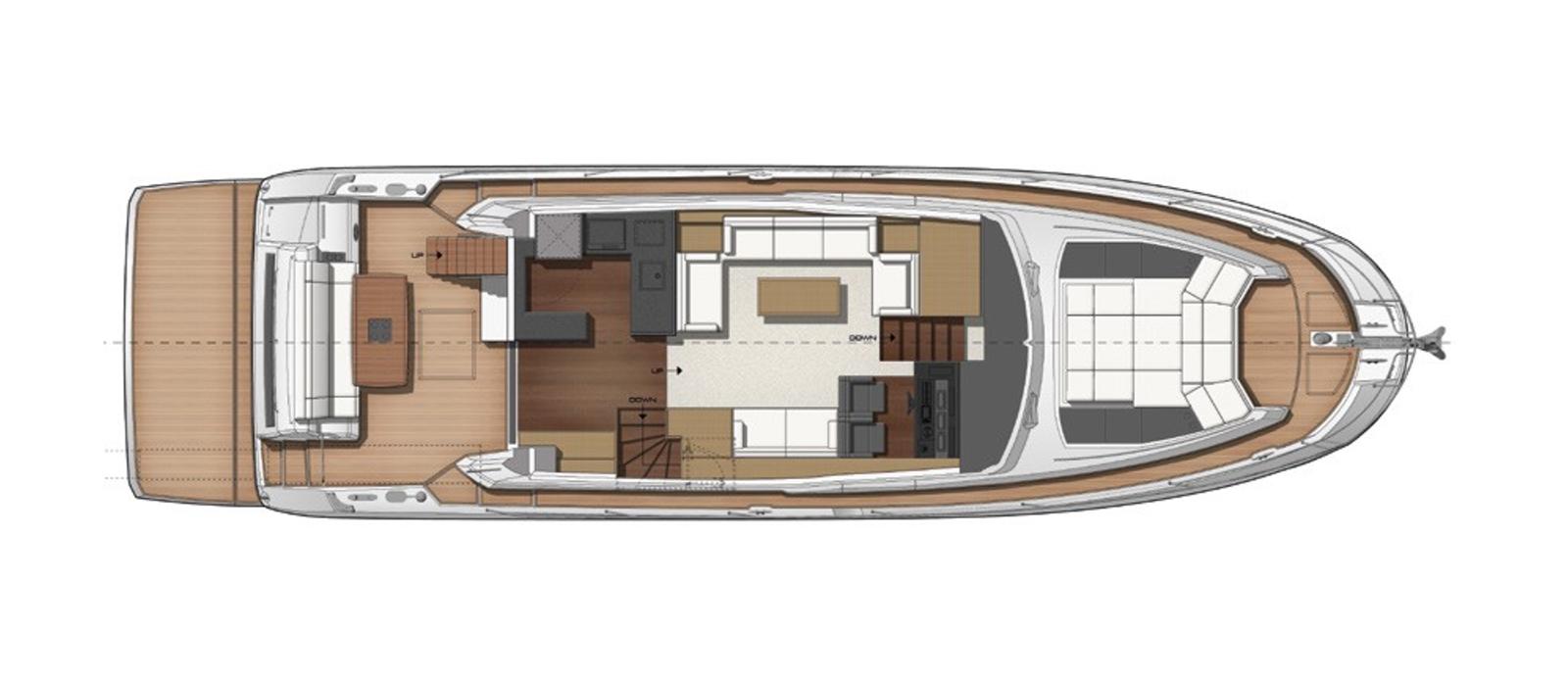 Prestige 630 - Boss - Layout - Main-Deck