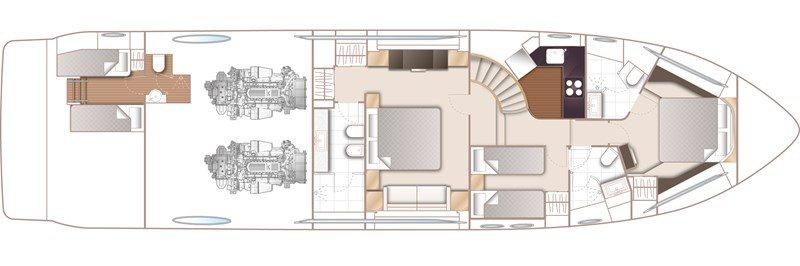 princess-s72-for-sale-layout-lower-deck