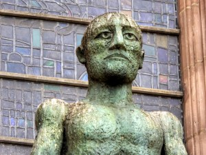 elizabeth frink statue liverpool cathedral