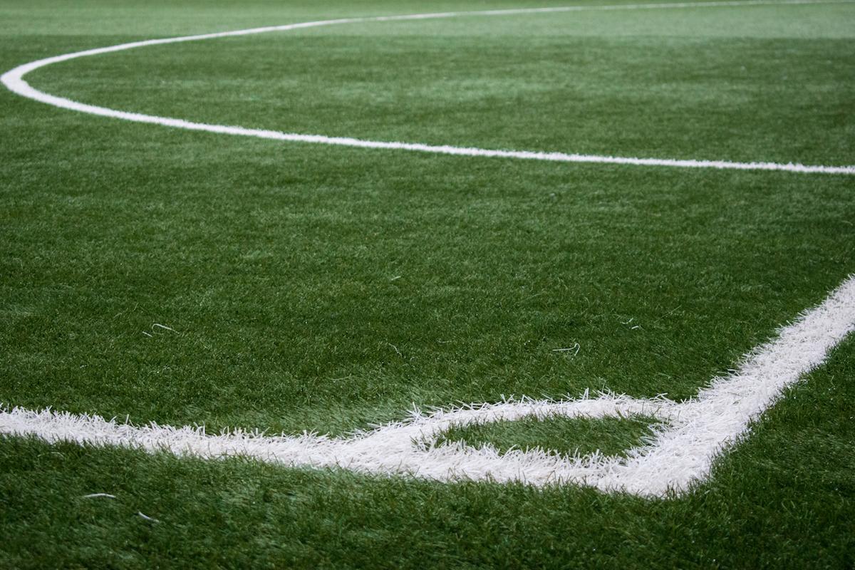 football pitch corner mark