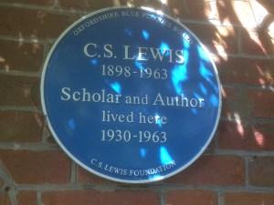 c s lewis blue plaque