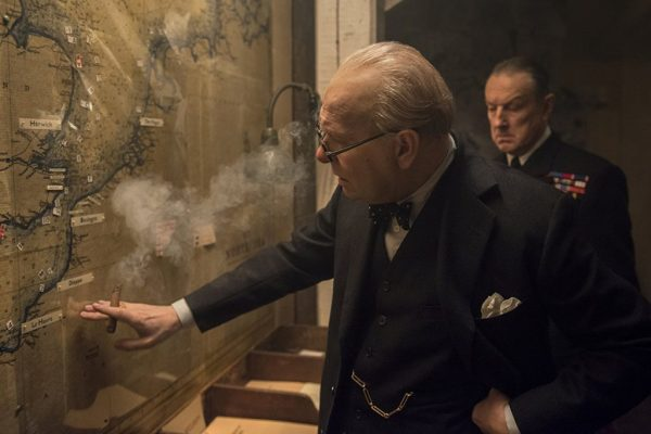 Darkest Hour still, Churchill tours