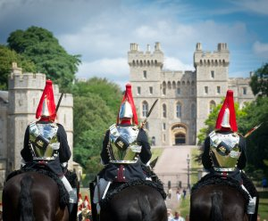 Mounted police officers at Windsor Castle