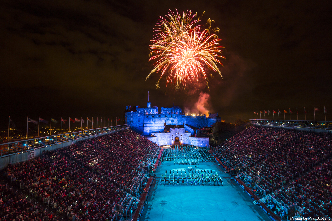 Fireworks finale at The Royal Edinburgh Military Tattoo