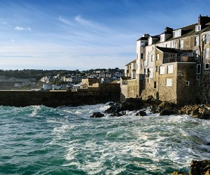 Houses by the sea in Cornwall