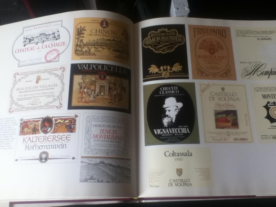 wine label book has