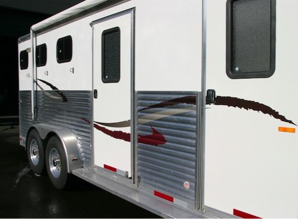 BritePlus cleaned aluminum horse trailer