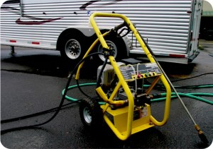 First pressure wash the trailer before using BritePlus MX