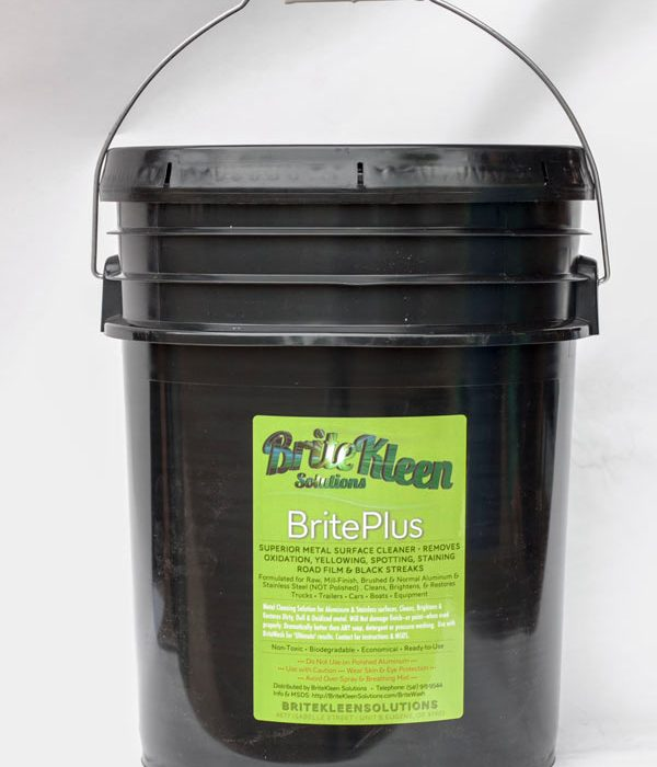 Five gallon pail BritePlus aluminum and stainless steel cleaner