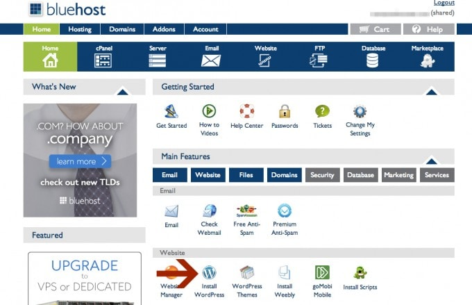 how to start a blog and use bluehost