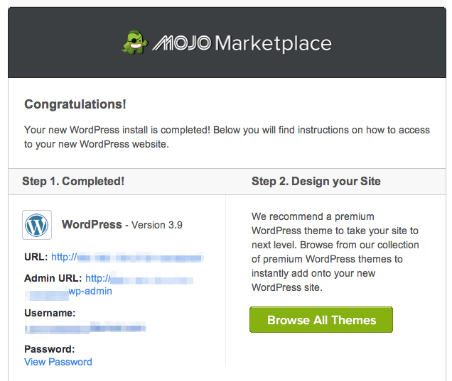 mojo marketplace for bluehost