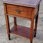 Antique Oak Side Table With Drawer Lamp Table Hall Table With Drawer