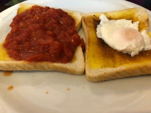 Cafe House 107 - Poached Egg and Tomato on Toast