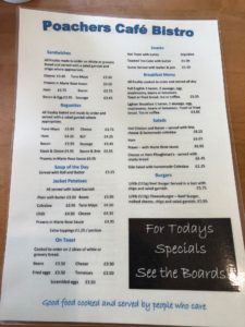 Poachers Cafe Bistro Tamworth Menu