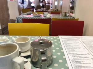 Andys Cafe Newquay - Uncleaned Tables