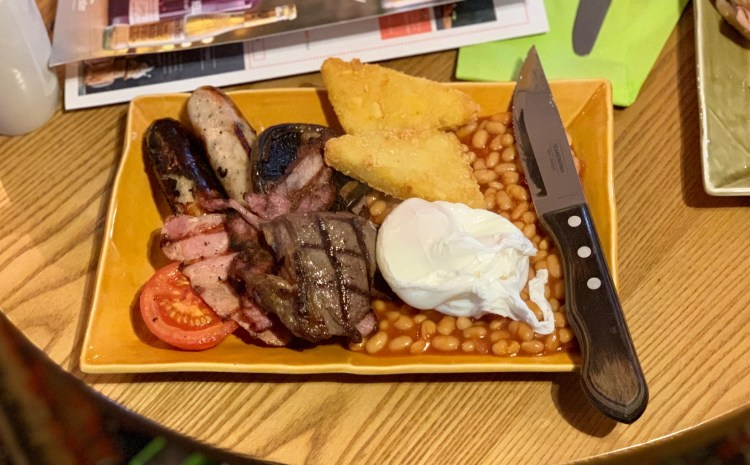 Harvester Boldmere - Full English Breakfast with Steak