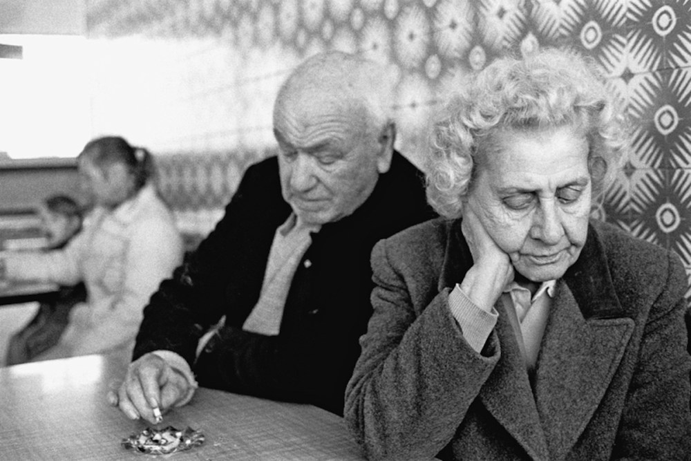 Photo of Couple In The Pier Head Cafe, 1989.