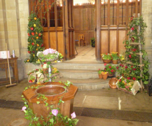 Part of the Hurst College Chapel 2013 charity floral display