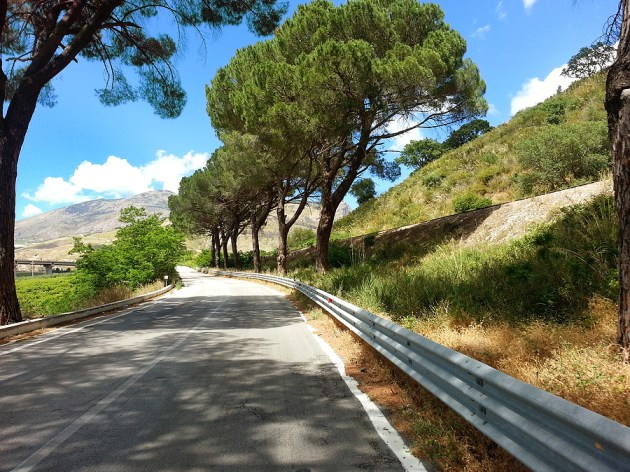 On-Sicily - Inland the hilly terrain makes for excellent riding