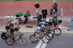 Matt Gittings of AW-Cycles on his way to victory in the Senior A Devil
