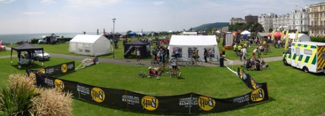 The Eastbourne Cycling Festival takes place on the Western Lawns at the foot of the Downs, right next to the beach