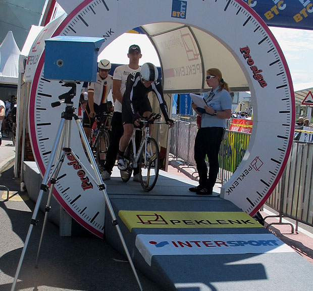 Riders on the Tour of Cambridgeshire Chrono Time Trial will  start from a 'proper' start ramp, just like on the telly!