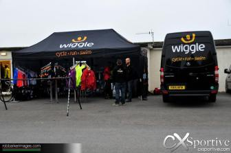 Wiggle had a sales tent and support vehicle present at the Gold Rush CX