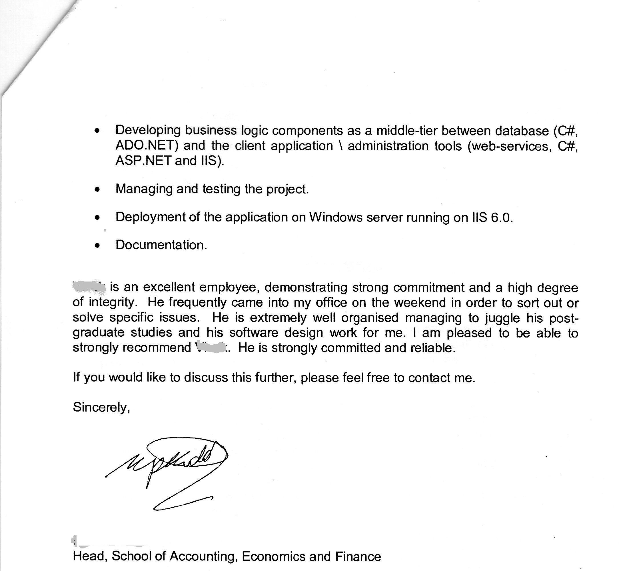 Employee Reference Letter Sample Uk