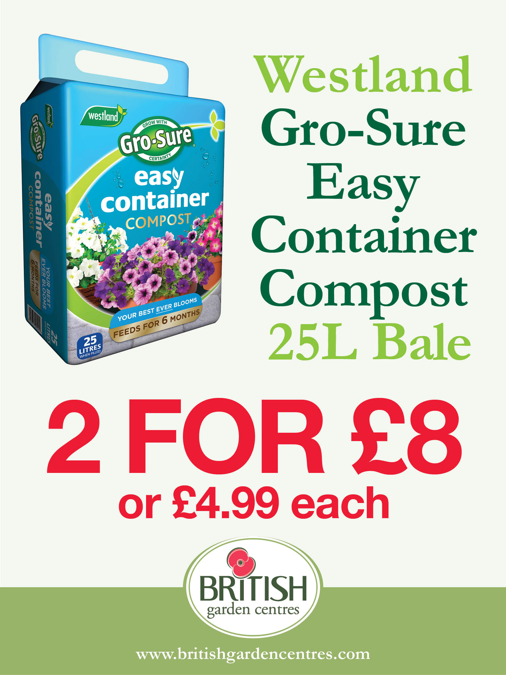 Gro-Sure Easy Containe Compost 25L