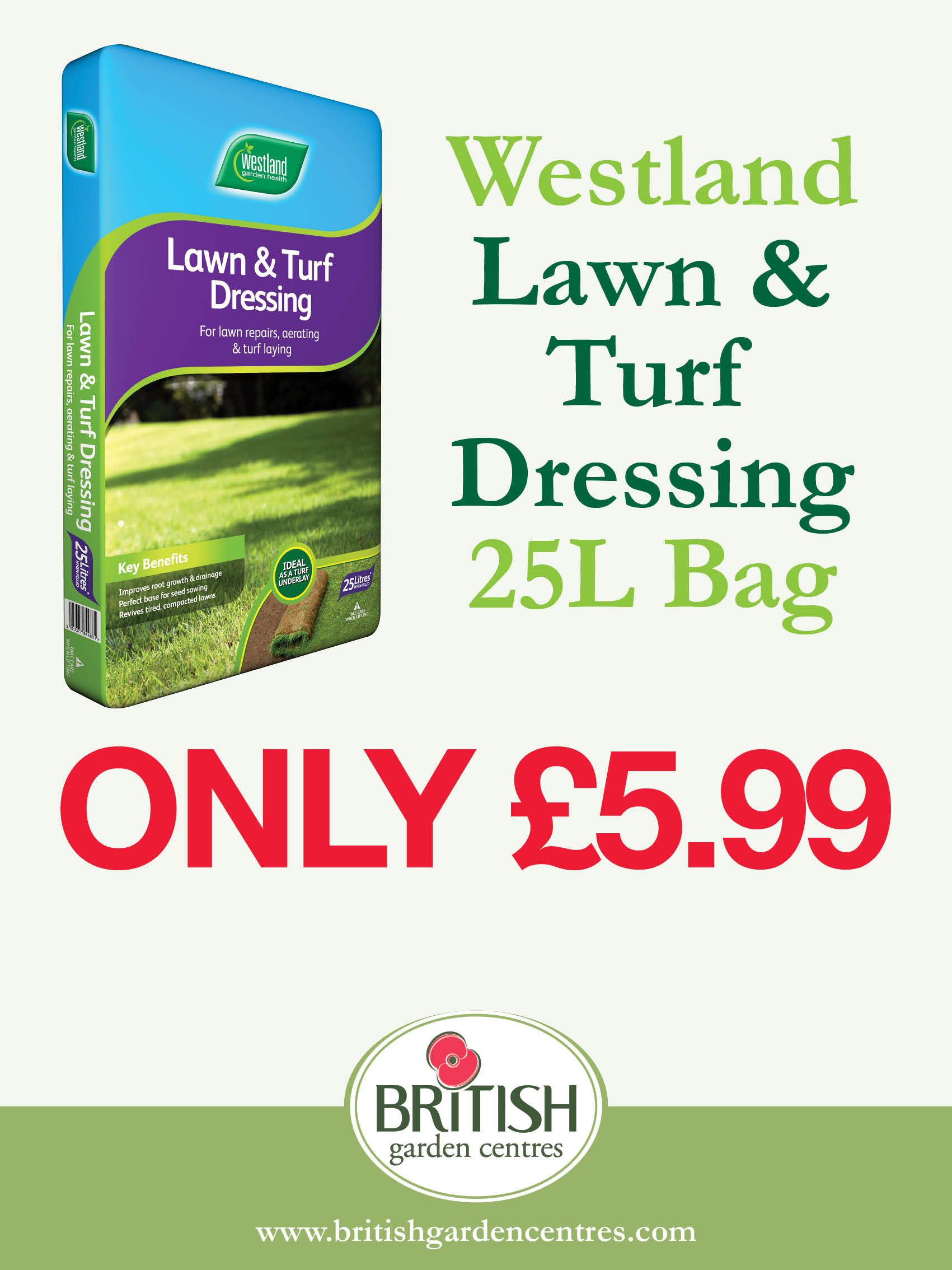 Westland Lawn and Turf Dressing 25L